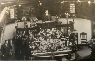 A flower festival at Mount Street Chapel Penzance? | Postcard from collection of Revd Steven Wild