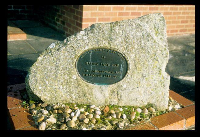 Millennium commemorative tablet at Bailey Lane End Primitive Methodist chapel in November 2017 | David Hill 06 Nov 2017