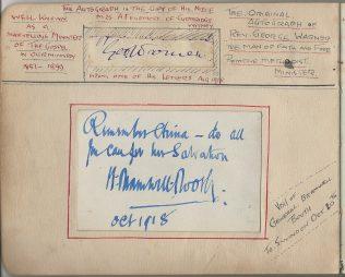 George Warner signature | CHristopher Hill 2020