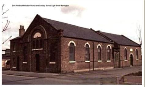 corner view of Zion Primitive Methodist chapel, Legh Street, Warrington | provided by Rex Houghton
