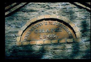 1865 datestone at Combes Moor Primitive Methodist chapel | David Hill 25 April 2017