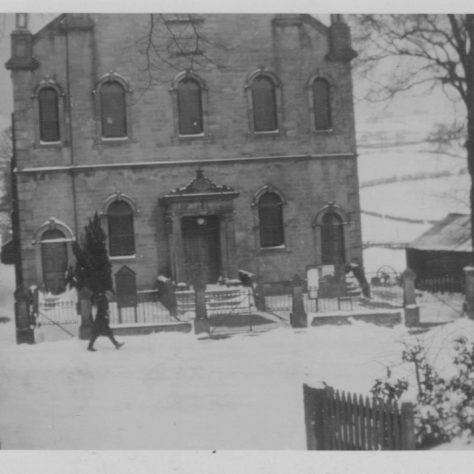 Middleton in Teesdale Chapel in winter | Supplied by Judith Rogers from postcards collected by Rev. Alexander McDonald - August 2021