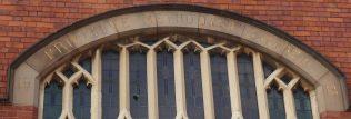 4. 1913 Shepshed Primitive Methodist Chapel, name strip | Geoffrey Oxley 17 April 2019