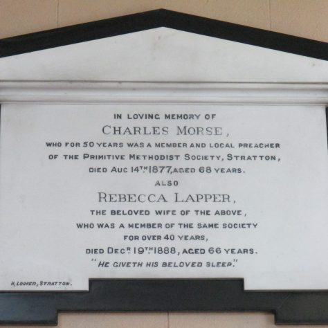 Charles Morse memorial tablet | Christopher Hill 2018