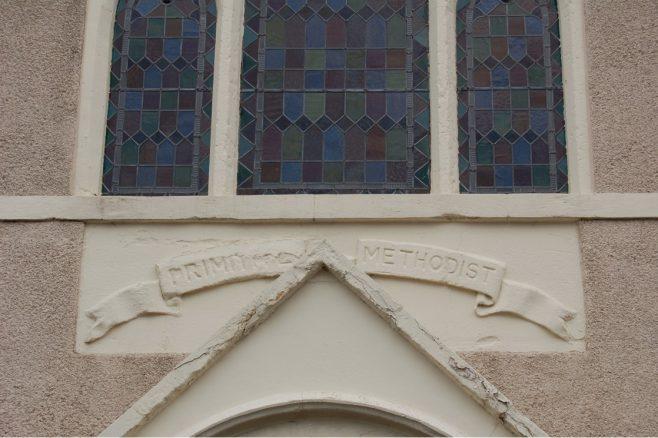 Datestone of Prospect Place chapel, Swindon | Neil Pithouse 2021