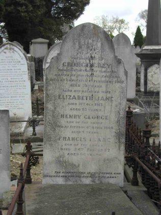George Grey's family Memorial   Andrew Hunter