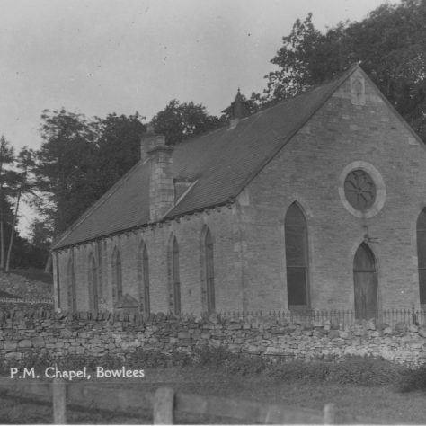 Bowlees PM Chapel   Supplied by Judith Rogers from postcards collected by Rev. Alexander McDonald - August 2021