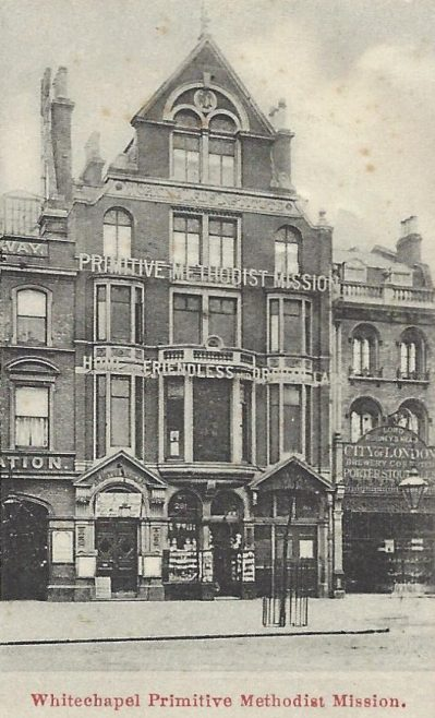 Whitechapel Primitive Methodist mission; from a postcard sent in 1907