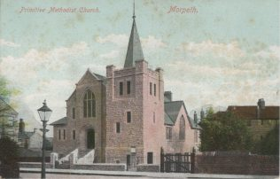Morpeth PM Chapel Northumberland | Supplied by Judith Rogers from postcards collected by Rev. Alexander McDonald - August 2021