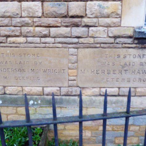 Foundation stones - 1   G.W. Oxley