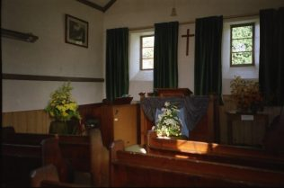 Chapel interior - side view of pulpit | Brian Carlick