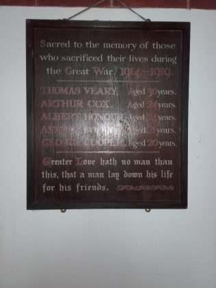 WW1 Memorial - now located in the Anglican Mission Room | Brian Carlick