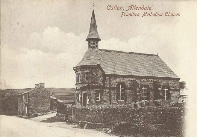Catton Primitive Methodist chapel; from a postcard  posted in 1909 | provided by Randle Knight