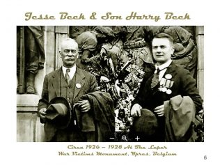 Photo probably taken at the unveiling of the monument in 1926 by Jesse's son, Percy Beck. | Andrew Thurman