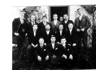 Samuel Hayes Bible Group. Outside rose cottage Unwin road Sutton | Supplied by Joan Hollingsworth