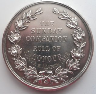 Sunday Companion Roll of Honour medal | Supplied by Joan Hollingsworth