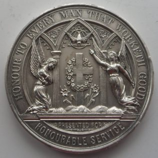 Reverse of medal | Supplied by Joan Hollingsworth