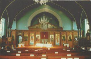 Leeds Harehills Primitive Methodist chapel as a Greek Orthodox church, interior | Englesea Brook postcard collection ENBPM:2020.108