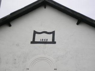 Dalton in Furness, Ulverston Road Chapel, date plaque, 3.7.2016   G.W. Oxley