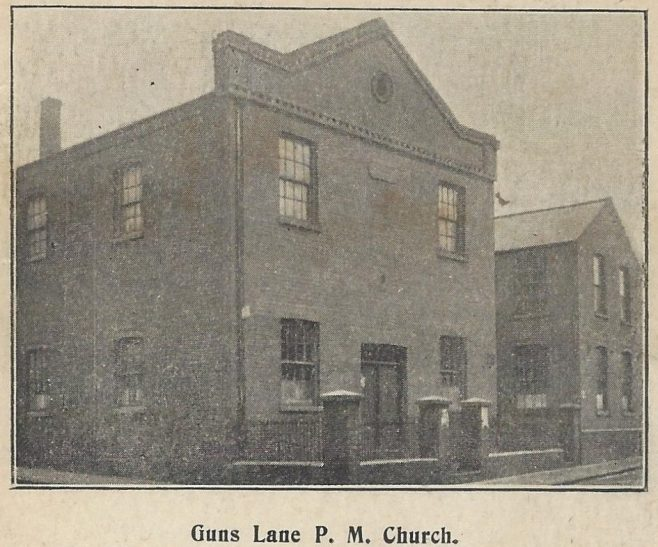 Guns Lane Primitive Methodist chapel: from a postcard sent in 1904 | provided by Randle Knight