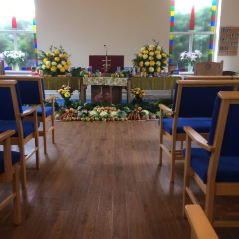 interior of current Saughall Methodist church | Alison Dean June 2020