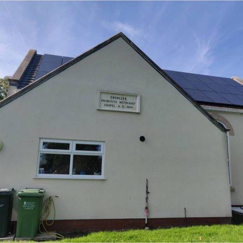 1864 datestone on third Saughall Primitive Methodist chapel 2013 | Tim Macquiban 2020