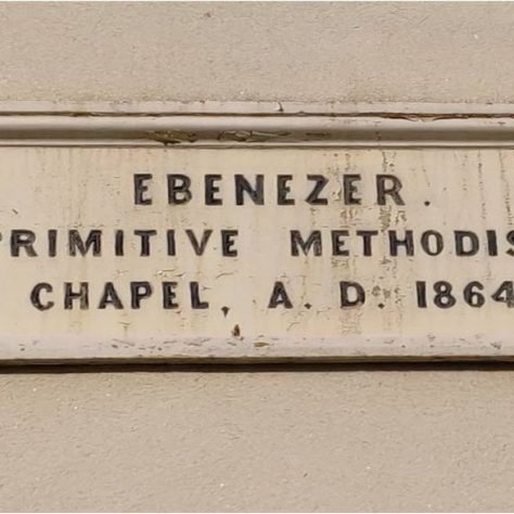 1864  Saughall Primitive Methodist chapel datestone; now on 2013 building | Tim Macquiban 2020