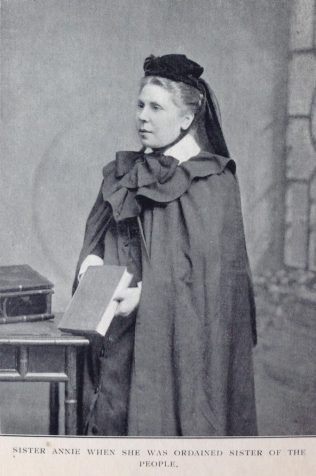 Sister Annie when she was ordained Sister of the People