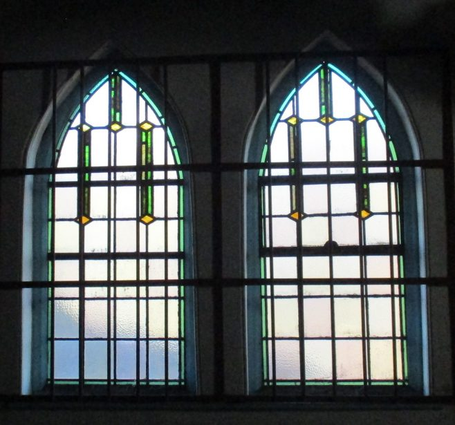 The building still retains original features such as this stained glass | Christopher Hill January 2019