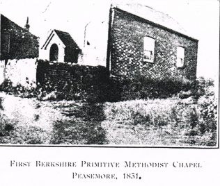 First Peasemore Primitive Methodist chapel 1831