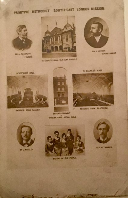 South East London MIssion based at St George's Hall   postcard from Steve Wild