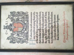 Citation for William Llewelyn Owen