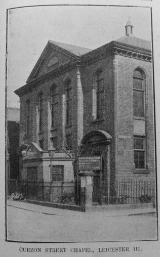 Curzon Street Primitive Methodist chapel | Primitive Methodist Magazine1907/529