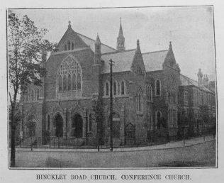 Hinckley Road  Primitive Methodist chapel   Primitive Methodist Magazine1907/529