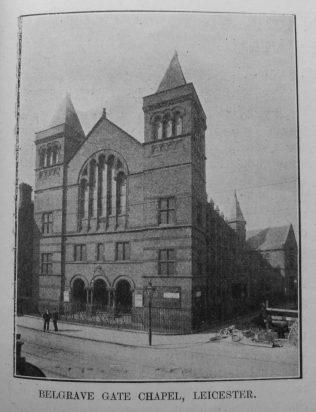Belgrave Gate Primitive Methodist chapel   Primitive Methodist Magazine1907/529