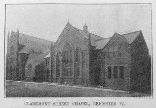 Claremont Street Primitive Methodist chapel   Primitive Methodist Magazine1907/529
