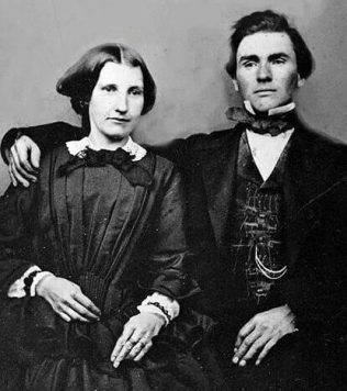 Ferdinand Spoor with his wife Annie, c1865