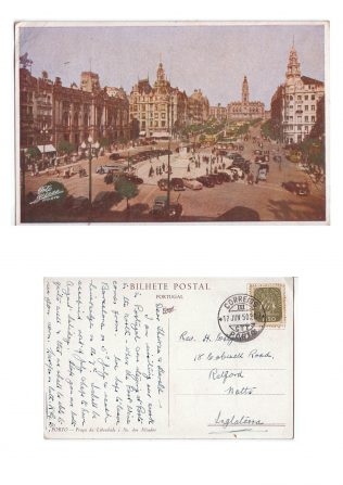 Postcard from George Bell to Harold Wright posted from Portugal on 17 June 1950. | Supplied by Martin Lazell