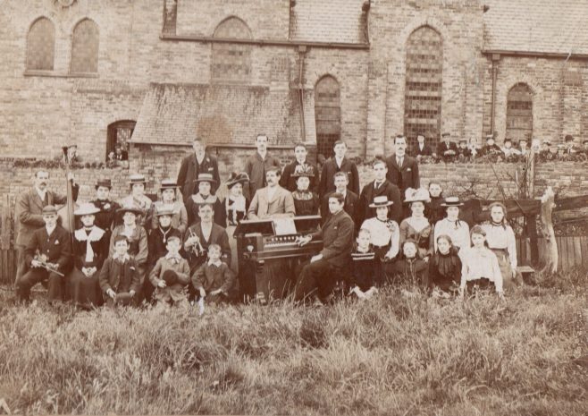 Sacriston PM Chapel Choir 1900, Co. Durham | Image from the Newcastle Methodist District Archives