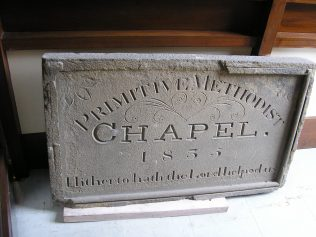 Unidentified PM Date plaque in Craven Museum, Skipton - but probably from Skipton Bridge Street Primitive Methodist chapel | GW Oxley 2019