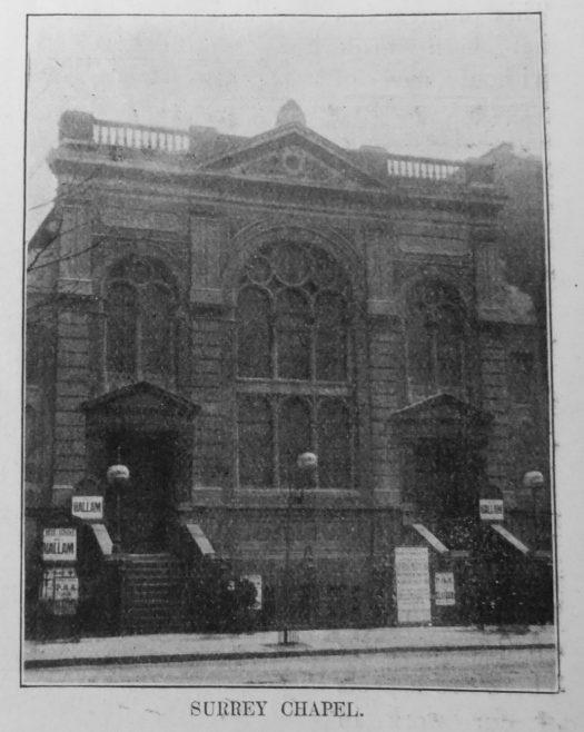 Surrey Primitive Methodist chapel | Primitive Methodist Magazine 1908/550