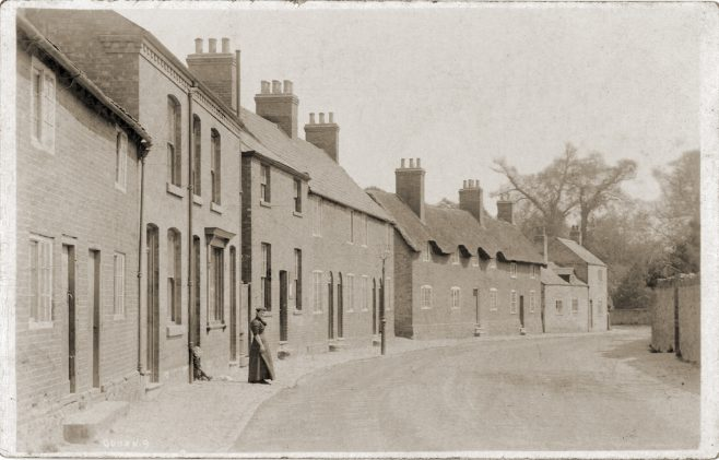 Meeting Street, Quorn from a postcard from around 1911. The chapel can be seen just behind the young woman. | Sue Templeman