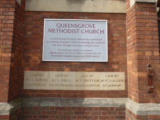 Chapel notice-board and foundation stones | G.W. Oxley