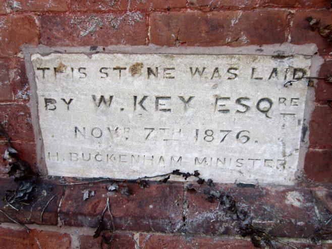 Dunchurch Primitive Methodist Chapel foundation stone | Anne Langley  2017