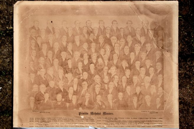 Composite of 108 Primitive Methodist ministers, created in 1858 | family of Rev Thomas Charlton