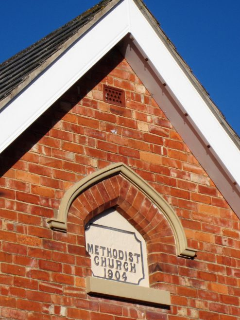 Stockton Primitive Methodist datestone | Anne Langley 2018