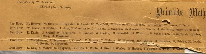 index of the ministers in rows 1-5  of the 1858 composite picture | from the family of the Rev Thomas Charlton