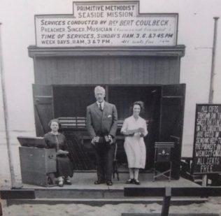 Bert pictured working as a seaside evangelist. | Englesea Brook Museum of Primitive Methodism