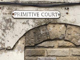 Primitive Court  street sign, Buxton   Christopher Hill 2019