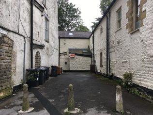Primitive Court courtyard, off the Market Square, Buxton   Christopher Hill 2019